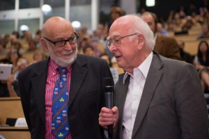 François Englert and Peter Higgs at CERN